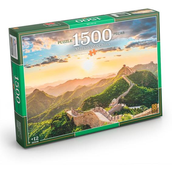 Puzzle 1500 Peças Muralha Da China Grow