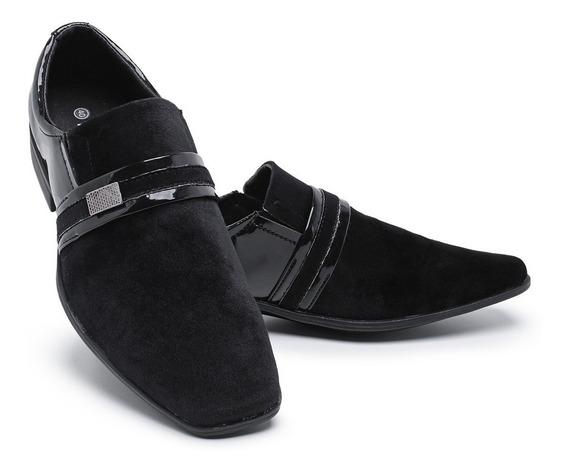Sapato Social Masculino Verniz Sintético Uniforme Luxo 108