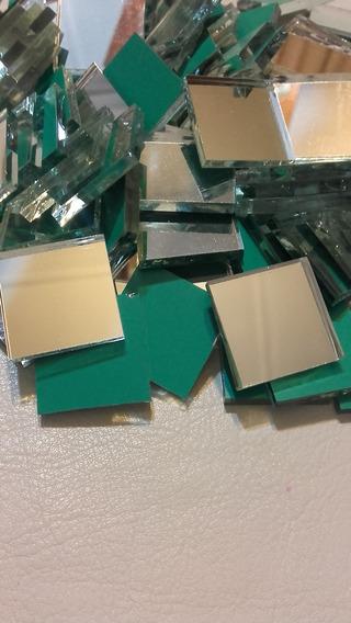 Espejitos Cuadrados De 2x2cm P/ Mosaiquismo X 250 Unid