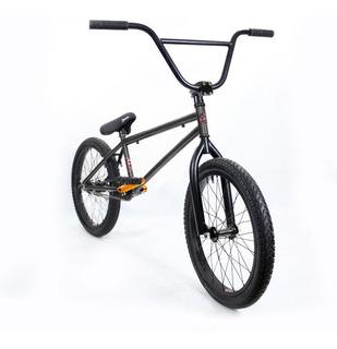 Bicicleta Bmx Fad Gris Oscuro Y Palancas Naranja Fluo Pro