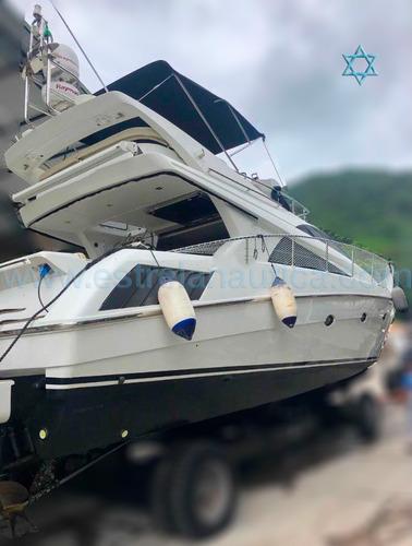 Lancha Ferretti 46 Barco Iate N Axtor Azimut Intermarine