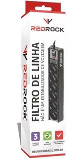 Kit Filtro De Linha 6 Tomadas Com Fusível Com 20 Unidades