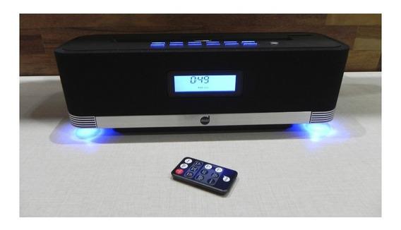 Radio Relogio Digital Fm Despertador Controle Remoto Alarme