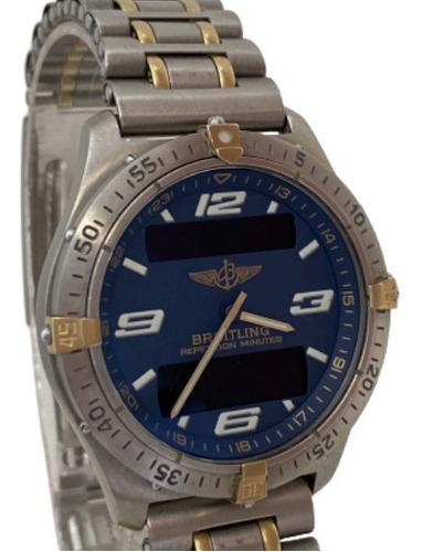 Relógio Breitling Aerospace Titânio E Ouro Dial Azul F65362