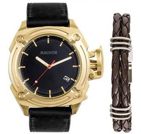 Relógio Magnum Masculino Kit Com Pulseira Ma34503c