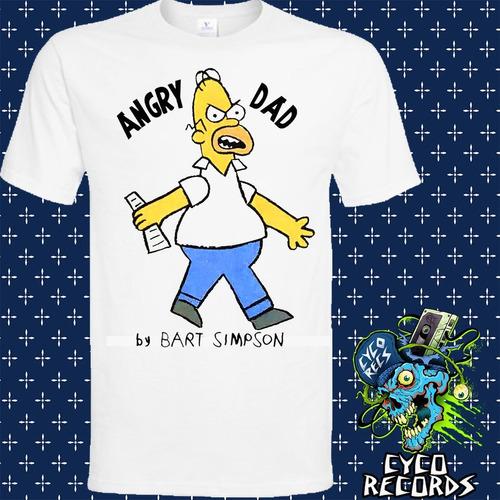 Imagen 1 de 3 de The Simpsons -  Angry Dad_2 - Animacion - Polera- Cyco Recor