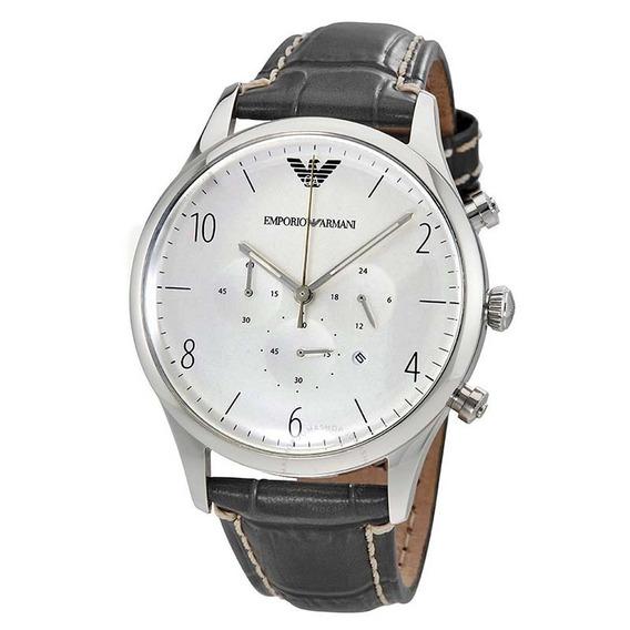 Reloj Análogo Marca Armani Modelo: Ar1861 Color Gris Para Ca