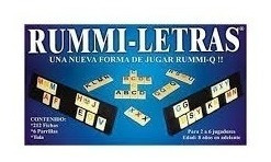 Juego De Mesa: Rummi Letras Niños Juguetes 6053