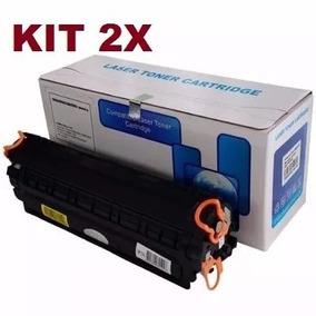 Kit 2 Toners Compatível Hp Ce285a Cb435a Cb436a 2k