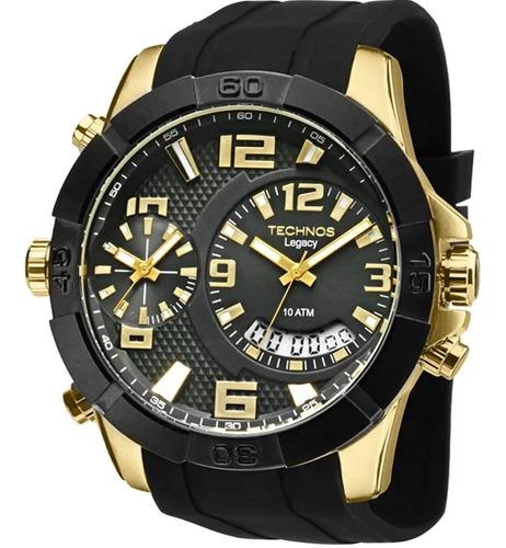 Relógio Technos Masculino Legacy Dual Time T205fj/8p C/ Nf-e