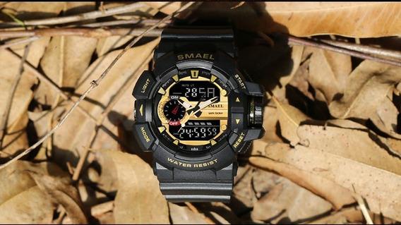 Relógio Masc Digital Smael Shock Resist A Água