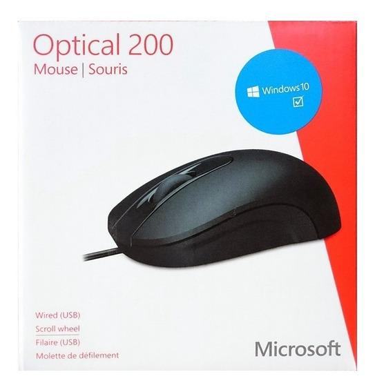 Mouse Microsoft Optical 200 Usb Negro 12vrd