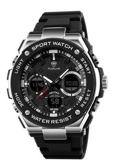 Relógio Masculino Prova Dágua Digital Esportivo Tuguir 1187