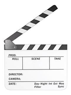 Claqueta 25 X 30cm Para Director Cine Clapperboard Acrilico
