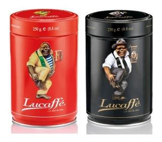 Café Lucaffe Italiano 2 Tarros 250gr Grano Molido Envío Free