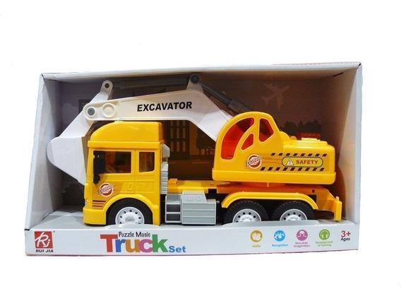Camion Excavadora Musical Con Luces Y Sonido Ck Full