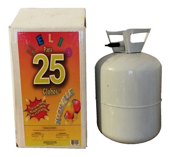 Gas Helio Para 25 Globos De 9 Pulgadas Garrafa Descartable