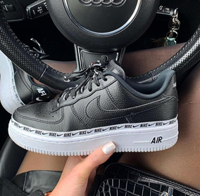 *\zapatos Nike Force One Air Negros/*
