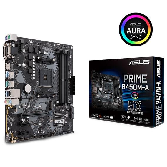 Placa Mae Asus Am4 Prime B450m-a Ddr4 - Bios P/ Ryzen 3ª Ger