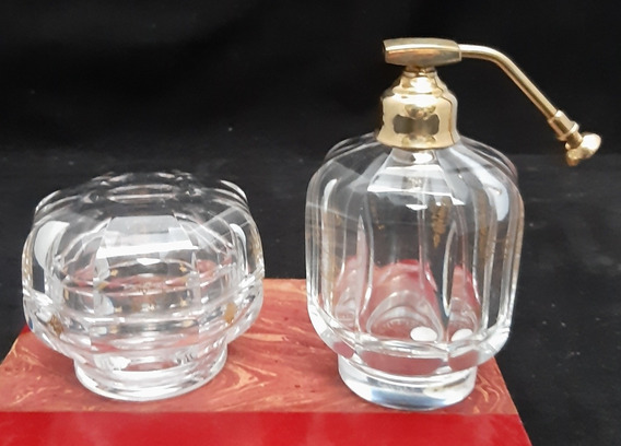 Baccarat - Conjunto De Perfumeiro E Caixa Para Pó