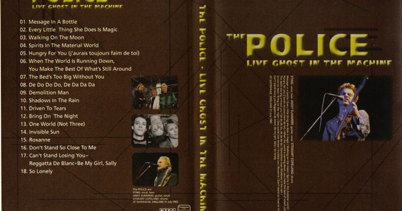 Dvd The Police Live Ghost In The Machine En Stock Musicanoba