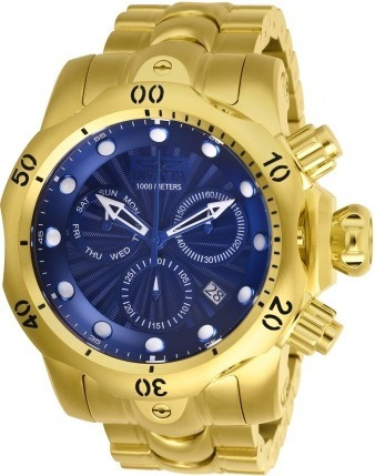 Invicta Venom Gold 18k Model 25905 Original Nota Fiscal
