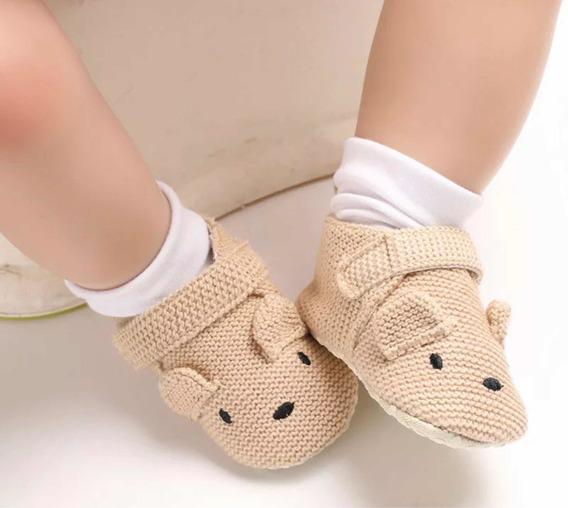 Zapato Bebe Beige Oso Talla ( 11 Y 12 )