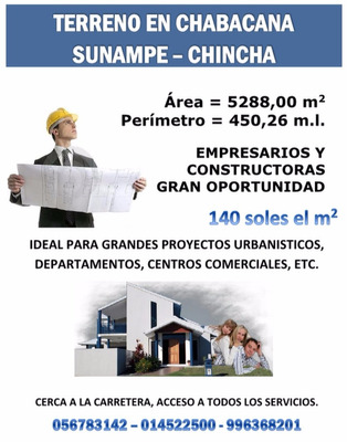 Terreno Chincha Chabacana