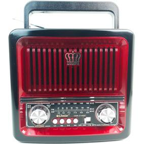 Rádio Retro Portátil Bluetooth Usb Recarregável Com Pegador