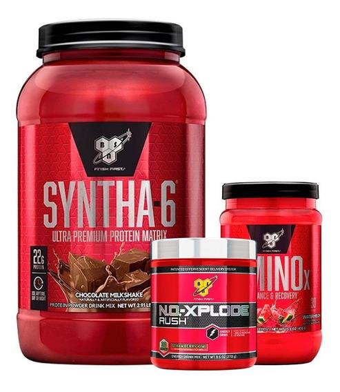 Syntha 6 2 Lb + No Xplode + Amino X 435g Bsn Resistencia