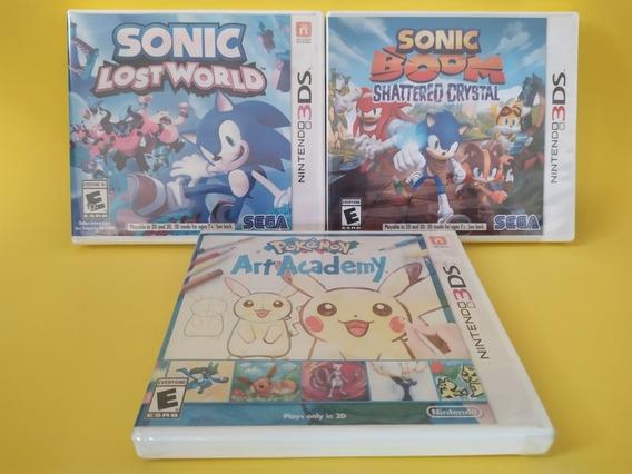 Jogos Originais Lacrados De Nintendo 3ds