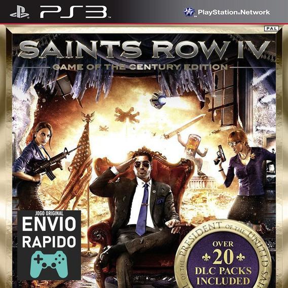 Saints Row 4 + Todas As Dlcs Jogos Ps3 Original