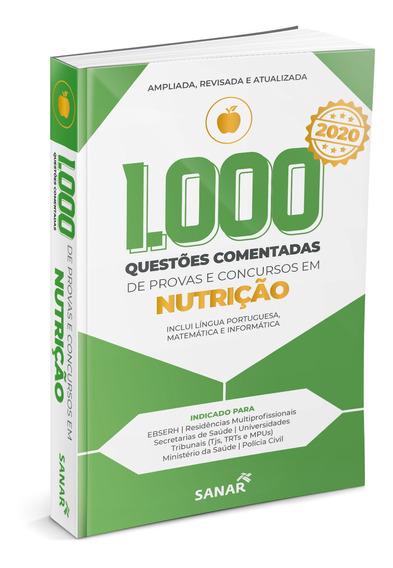 Livro 1000 Questões Nutrição Comentadas Provas Concursos