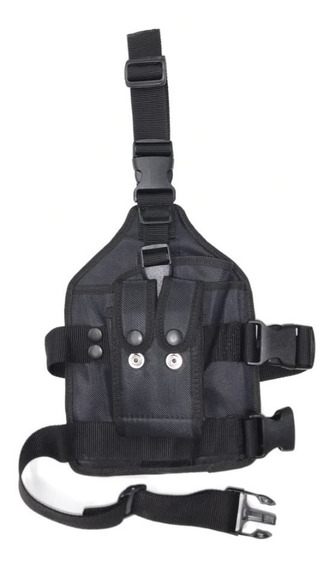 Piernera Táctica Porta Pistola Y 2 Cargadores Upoe + Envio