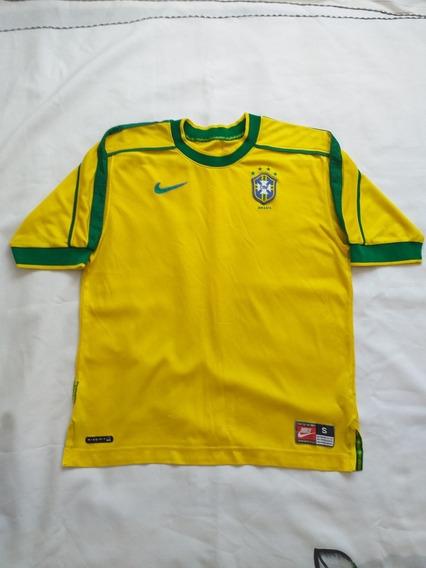 Camisa Oficial Brasil 1998 Tamanho P Produto Usado