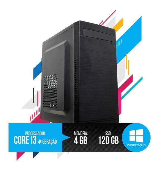 Pc Intel Core I3 4ª Geração 4gb Ram, Hd Ssd 120gb Oferta!!!!