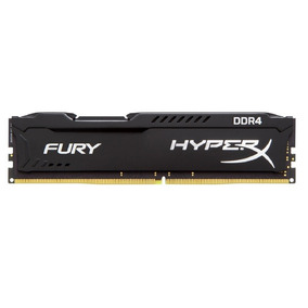 Memoria Kingston Ddr4 8gb 2400mhz Hyperx Fury Cl15 Black