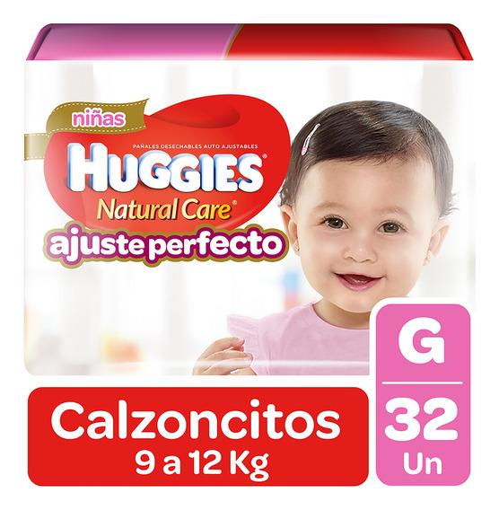 Pañales Huggies Pant Natural Care Niña 32 Unidades Talla G