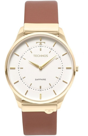 Relógio Technos Unissex Slim Dourado 9t22aj/2b