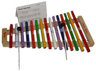 Xilófono Grande 15 Notas 40x26.5cm. Instrumentos Musicales