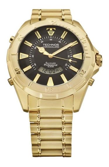 Relógio Technos Masculino Skydiver T205fl/4p Dourado