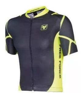 Camisa Mtb/speed Free Force Evo Root Preto/amarelo (m A 3g)