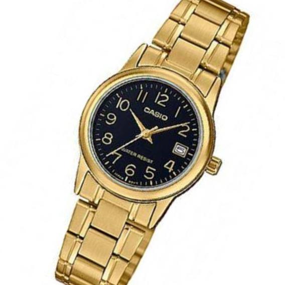 Relógio Casio Feminino Analógico Dourado Wr Ltp-v002g-1budf