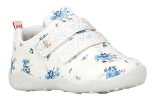 Tênis Infantil Bibi Feminino Blue Garden Fisioflex
