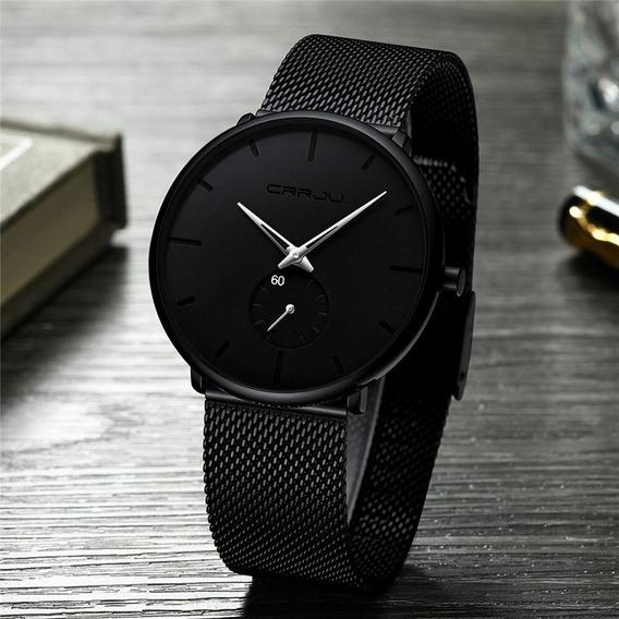 Relógio Masculino Classico Esportivo Luxo Crrju Prova D