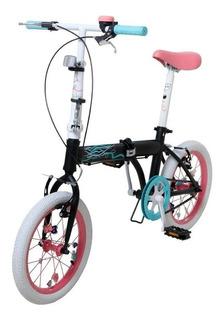 Bicicleta Nena Bia Rodado 16 Plegable Disney Original