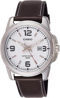 Reloj Casio Hombre,fondo Blanco,números En Contraste,wr50.