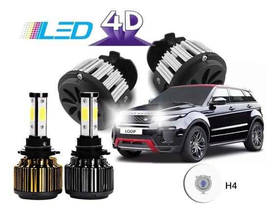 Kit Led 4d 12000 Lumens Carro 12v 24v Com Cooler 6000k