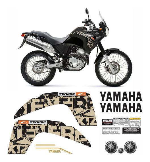 Kit Completo Adesivo Yamaha Tenere 250 2014 Preta Tnr012