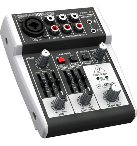 Behringer Xenyx 302-usb Consola Mixer 5 Entradas En Cuotas